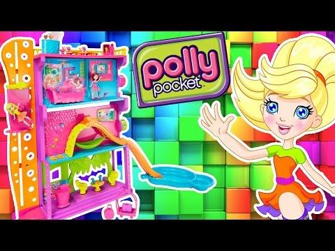 Hotel da Polly Pocket Completo em Portugues - Brinquedo com Novelinha da Polly- Turma kids