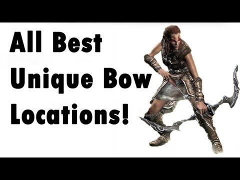 Skyrim - ALL Unique Bow - Locations (Best, secret) - YouTube