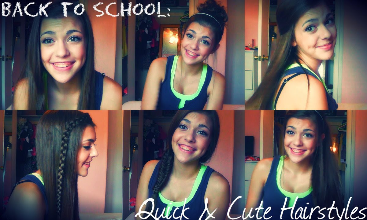 Back To School Quick Amp Cute Hairstyles Youtube