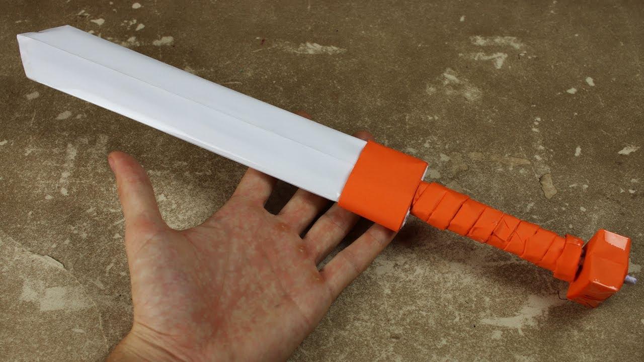 Как сделать меч из картона видео своими руками