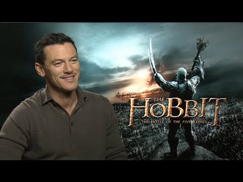The Hobbit: The Battle of the Five Armies Luke Evans Interview (HD)
