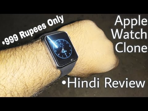 Apple Watch Clone•999 Rupee•A1 Bluetooth Smart Watch Phone•Full Review|Bluetooth Remote Device
