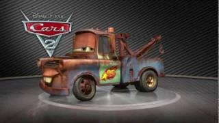 All of Disney Pixar Cars 2 Turntables cars in HD Lightning McQueen Mater