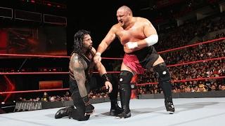 Roman ring vs Samoa Joe and Braun strowman attack WWE Monday night RAW 06/02/2017 _ HD