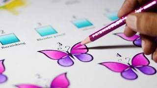 5 Ways to blend Colored pencils -- Blending methods explained