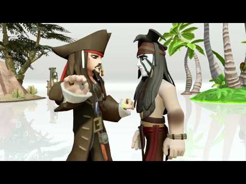 Disney Infinity Toy Box Captain Jack Sparrow meets Tonto