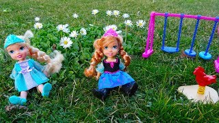 Elsa and Anna toddlers spring picnic