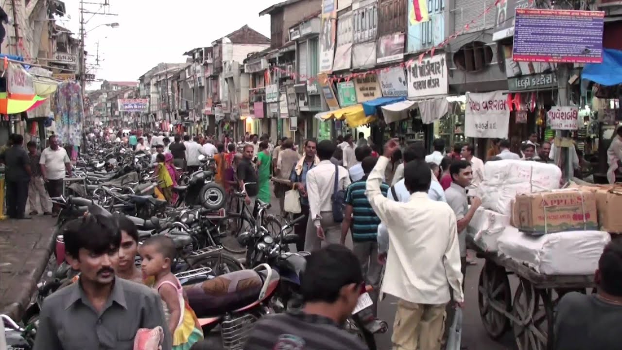The market of Bhavnagar Gujarat India YouTube