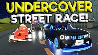 UNDERCOVER POLICE BUST LEGO STREET RACE! - Brick Rigs Roleplay Gameplay - Lego Police Chase