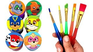 Paw Patrol Super Pups Drawing & Painting with Surprise Toys Super Chase Skye Rocky Marshall Rubble