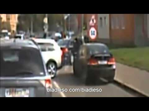 Russian Mafia kill two guys in AUDI A8