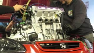 B16A engine swap EK civic HSG EP. 3-07