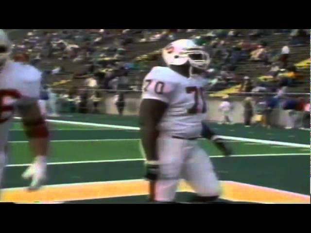 Pregame footage before the Stanford @ Oregon game 11-02-1991