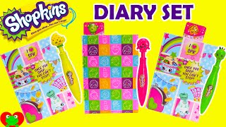 Shopkins Diary Set with Clicker Pens