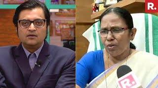 Arnab Goswami Confronts Kerala Minister KK Shailaja Over Attack On Republic TV's Crew