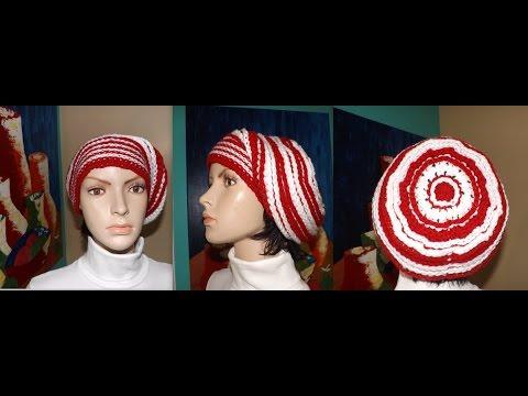 Crochet Gorro Caido O Boina