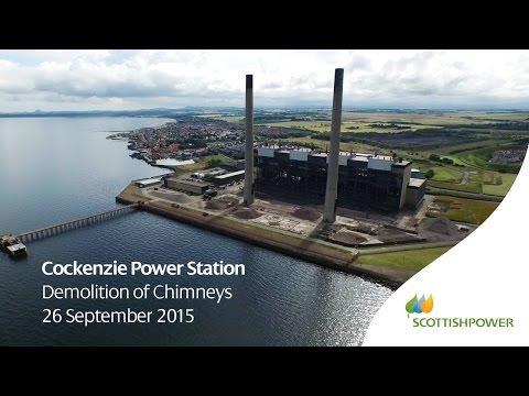 Cockenzie Chimney Demolition - HD Drone Footage - ScottishPower