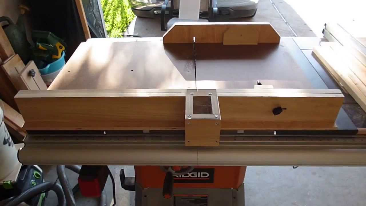 my adjustable crosscut sled