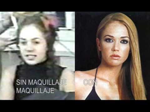 Famosos - Fotos de famosos con y sin maquillaje