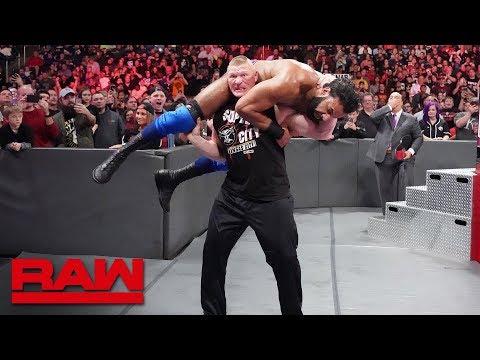 Brock Lesnar sends Jinder Mahal and The Singh Brothers to Suplex City: Raw, Nov. 12, 2018 thumbnail