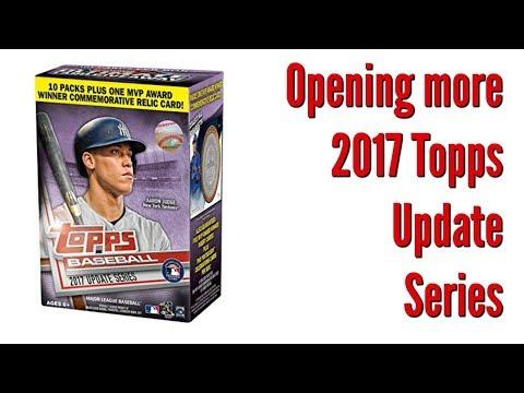 2017 Topps Update Series Baseball Blaster Box
