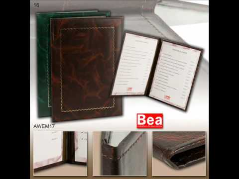 Restaurant menu covers and hotel room directories, manufactured with design and high quality