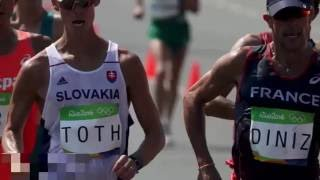 50 km walk poop - french walker yohann diniz poos himself mid race in epic olympics fail