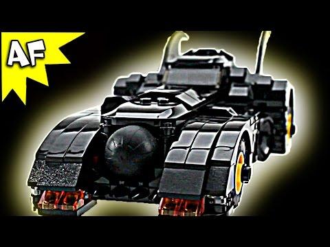 Custom Batman BATMOBILE + Bat Rocket transformation 1989 Keaton Edition Lego DC Super Heroes Review