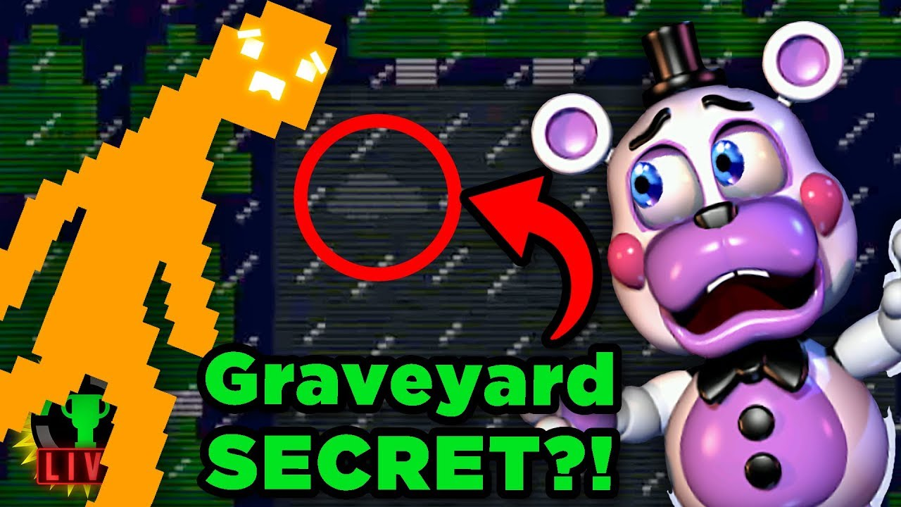 FNAF 6's SECRET GRAVE! | Five Nights at Freddy's: Pizzeria Simulator (Part 5)