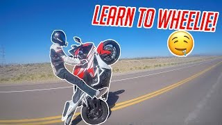 How To Wheelie a Sportbike!