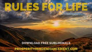 The Rules For Life - Antidote to Chaos Subliminal Version Audio
