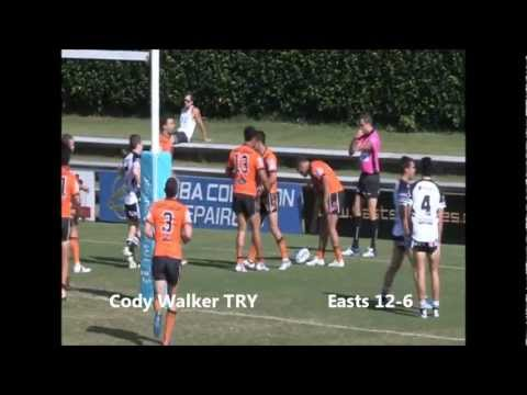 Match highlights from round one of the 2012 Intrust Super Cup clash between Easts Tigers and Souths Logan Magpies courtesy of Red Corner Promotions (http://www.redcorner.com.au). Result:...