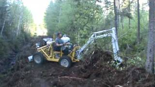 Dany homemade excavator build small way.MPG