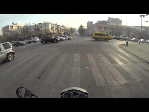 UlaanBaatar, 100 Family street to Zaisan, on BMW 650 GS, Saagan Sar, minus 15 celcius