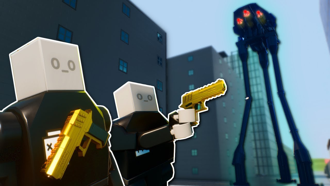 ALIEN INVASION IN LEGO CITY? - Brick Rigs Multiplayer Gameplay - Lego alien invasion survival