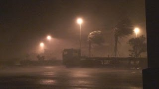 Typhoon Sinlaku Extreme Eyewall Stock Footage Screener HDV 1440x1080 50i Part 1