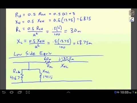Transformer Equivalent Circuit From Open Short Circuit