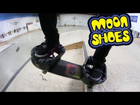 CAN YOU SKATE WEARING MOON SHOES?! *DEADLY*