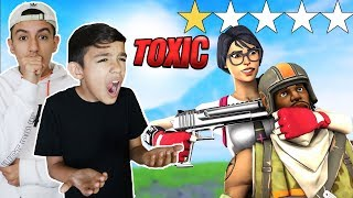 I Hired The Worst Reviewed Fortnite Coach For My Little Brother! Toxic Player!