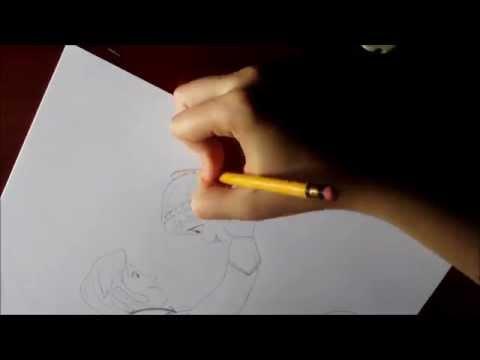 Dibujar a Hans y Anna de Una Aventura Congelada. Draw Hans and Anna from Frozen