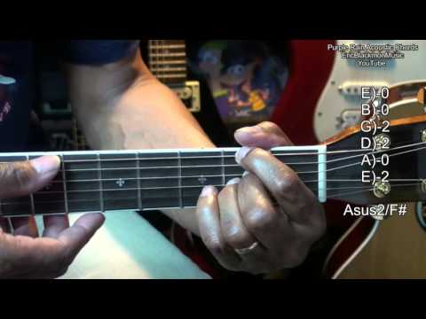 Purple Rain Prince EASY Acoustic Guitar Chords TABS & Lesson Link Tutorial EricBlackmonGuitar