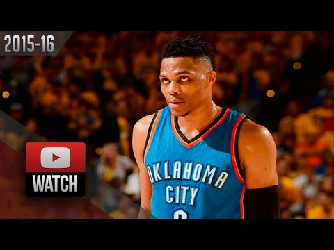 Russell Westbrook Full Game 1 Highlights at Warriors 2016 WCF - 27 Pts, 12 Ast