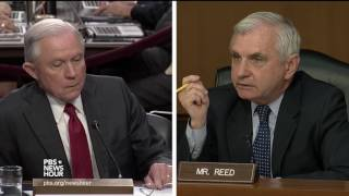 Reed asks Sessions why he changed his mind on Comey