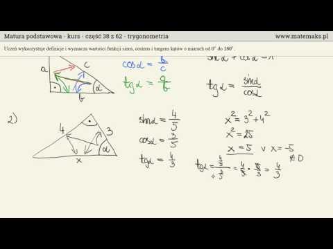 Trygonometria - Najważniejsze Wiadomości - Kurs Podstawowy