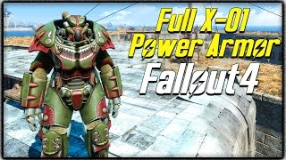 """Fallout 4 - FULL """"X-01 POWER ARMOR"""" SUIT LOCATION! Rare Power Armor Guide! (FO4)"""