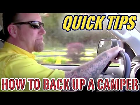 How to Back Up a Camper    Pete's RV Quick Tips (CC)