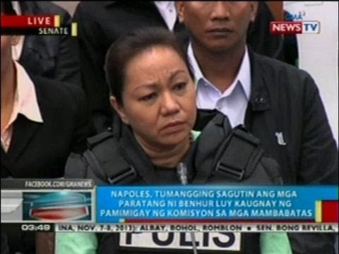 Bp: Napoles At Senate Pork Scam Hearing (nov. 7, 2013) (part 4) video