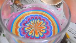 Gorgeous and easy rainbow water marble for beginners