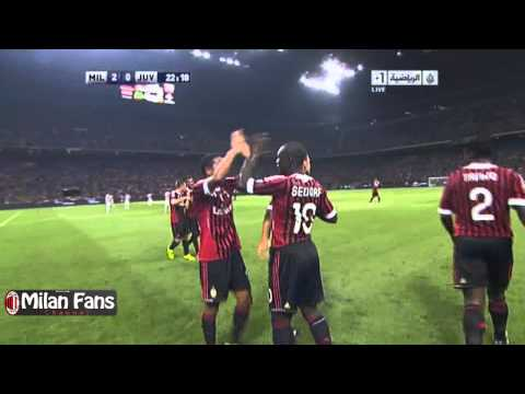 Clarence Seedorf Goal on Juventus ( Free Kick ) - Berlusconi Cup 2011