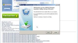 ASUS 701 a43s a7v333 Laptop PC Driver Check Driver Utility For Windows 7 8.1 10 64 32